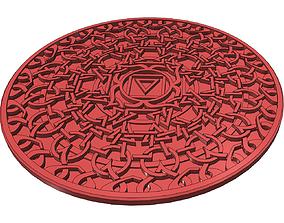 3D printable model Earth Chakra Coaster
