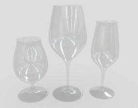 3D model game-ready Glass Set