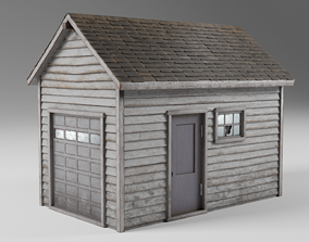 3D model Classic american style abandoned detached