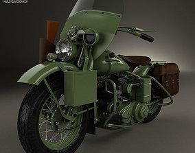 Harley-Davidson WLA 1941 3D model