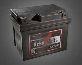 3D asset Old Battery TLS - PBR Game Ready