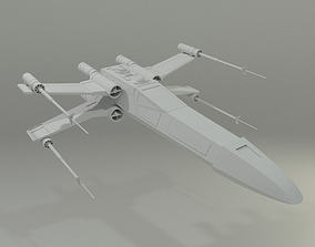 Simple X-Wing 3D model