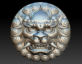 3D printable model Head of foo dog