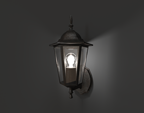 3D asset Antique Outdoor Lamp
