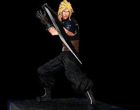 Cloud Strife Final Fantasy 7 REMAKE 3D printable model
