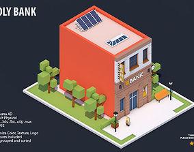 3D model Low Poly Bank