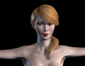 3D model animated Naked Girl