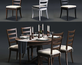 Harper Chair and Avalon Table 3D model