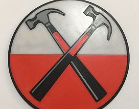 3D printable model Pink Floyd The Wall Hammer Logo Coaster
