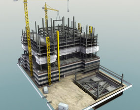 Building Construction Site 3D asset