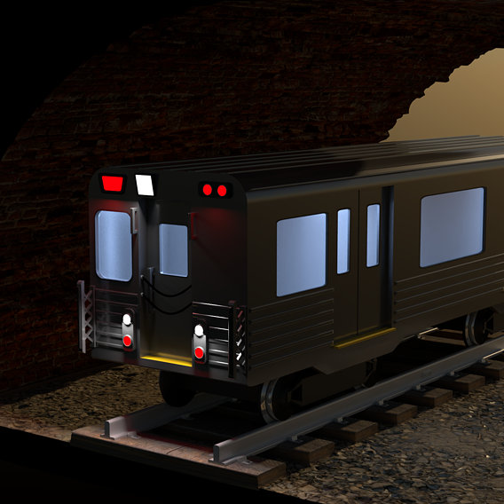 NYC styled subway train