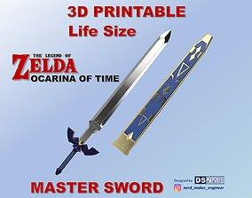MASTER SWORD from Zelda Ocarina of 3D printable model 3