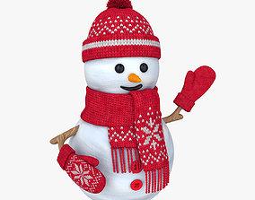 3D knitted Snowman