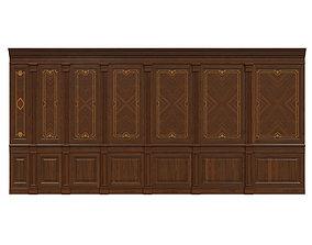 Wood panels with veneer 03 3D model