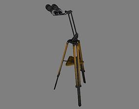 Telescope 3D model game-ready