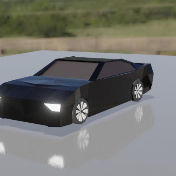 Low poly sports car!