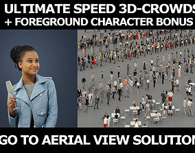 3d people crowds and a foreground May champagne sitting