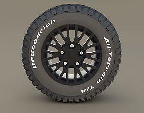 3D model Kahn Wheel BF Goodrich Tire