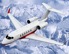 3D model Bombardier Challenger 300 Private Jet
