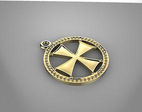 3D print model Medal- cross pendant