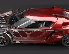 3D Concept Car and Chassis