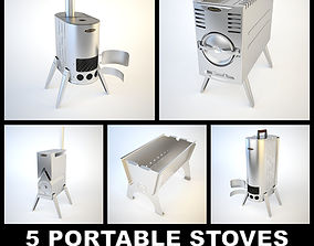 3D model 5 SiberStove Portable Stoves Collection