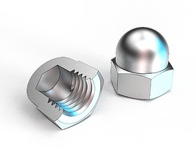 3D printable model Dome nut