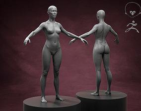 Standart Woman Body Basemesh 3D model