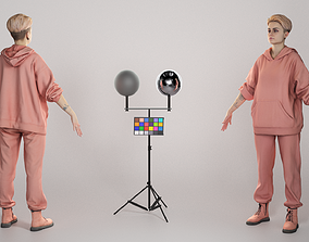 Young woman in tracksuit ready for animation 302 3D asset