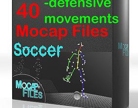 5-Soccer football motion capture animation -Defensive 3D