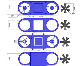 3D print model flying Mini Drone