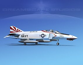 McDonnell Douglas F-4J Phantom II V09 USN 3D
