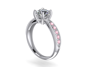 3D print model Jewelry Solitaire with Milligrains SI
