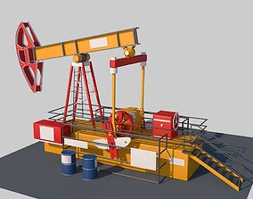 Oil pump 3D model animated