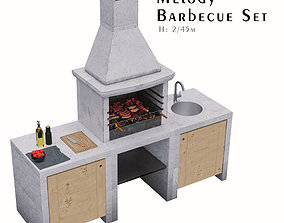 3D model Melody Barbecue Grill Set - 1 Barbecue