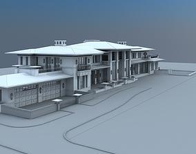 Villa Hotel Exterior 3D