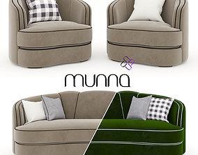 3D Munna Josephine armchair and Sofa
