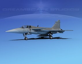 SAAB S39 Gripen Fighter V05 3D model
