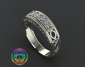 3D print model rings jewelry diamond ring