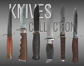 3D model game-ready Knives Collection