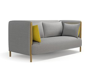 3D Colourform Quilted 2 Seater Sofa