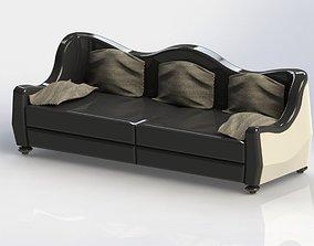 3D curved classic sofa seat