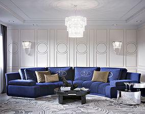 3D Interior Living Room Neoclassic 01