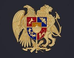 Armenian coat of arms 3D printable model