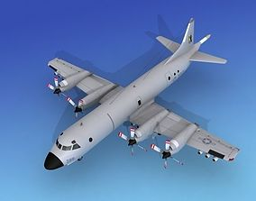 3D model Lockheed P-3 Orion US Navy 9 Hp