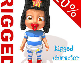 3D model Russian baby Cartoon Rigged