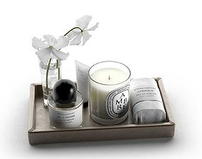 3D model Byredo Products with Vase on Tray