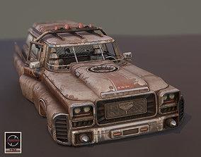 3D asset Retrofuturistic Ambulance