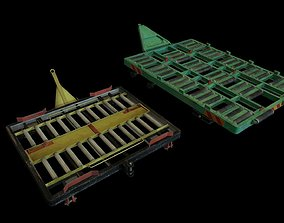 3D model Airport Cargo pallet dolly