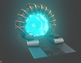sci-fi time portal 3D model